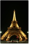 beauty of Eifel tower in the night