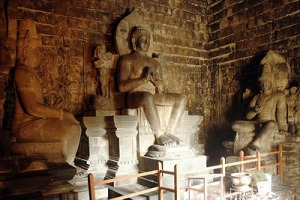 Inside of mendut temple