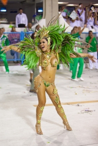 beautiful women in artistic fashion as the part of Brazil festival